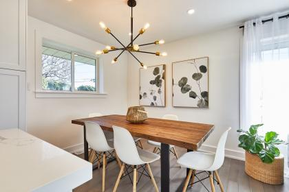 Broderick Dining Table & Eames Chairs