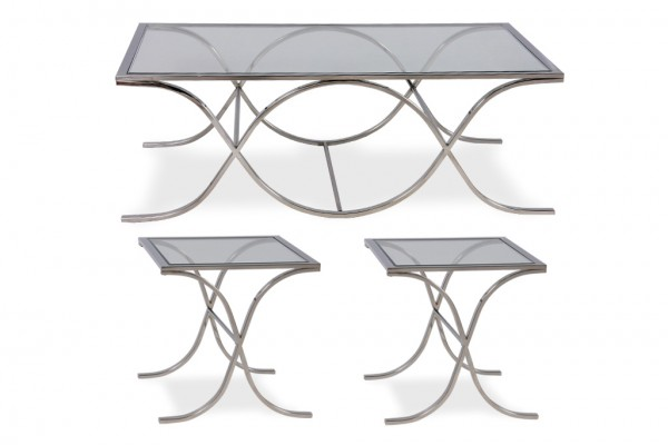 Luxor Coffee Table Set Silver