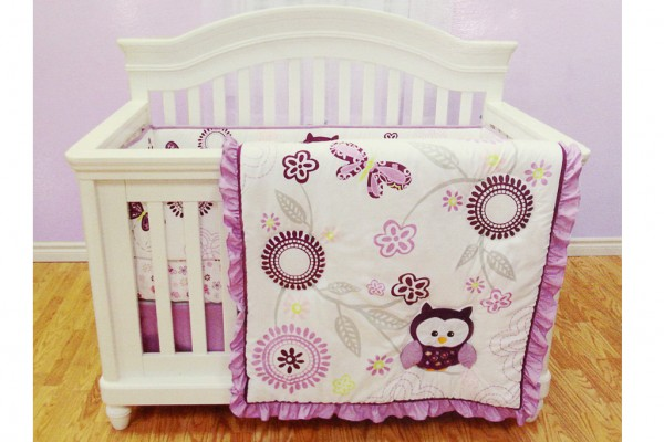 Very Berry Owl Crib Bedding