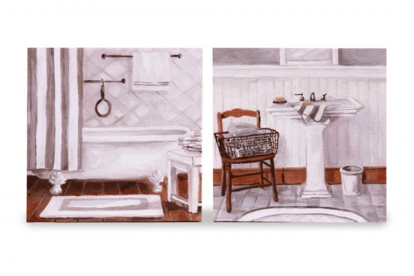 Wall art for home staging : Toronto home staging rent bathroom set of