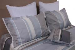 Blue Stripes Queen Bedding Set