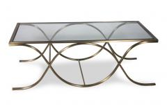 32x54 Luxor Coffee Table Brass