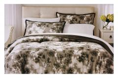 Grey Flower Queen Bedding Set
