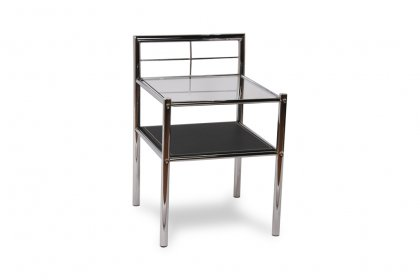 Leather-Chrome End Table
