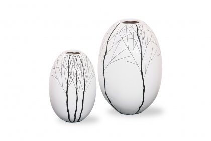Poly Black & White Vase (Set)