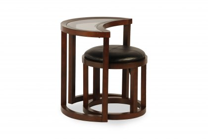 Hamilton End Table and Puff