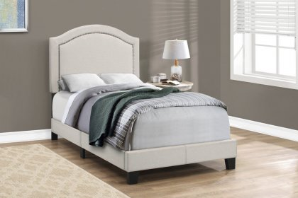 Elsa Beige Twin Bed